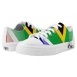 South Africa glossy flag Low Tops