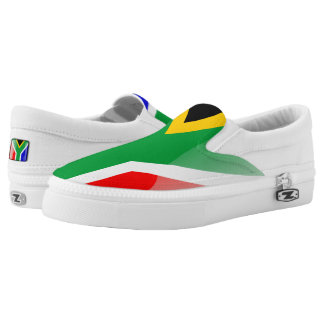 South Africa glossy flag Slip-On Shoes