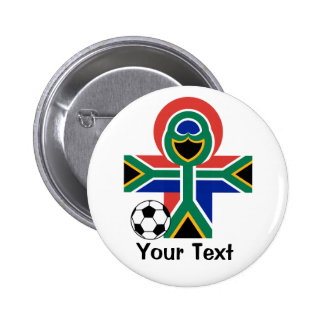 South Africa Happy Flag World Football Game Button