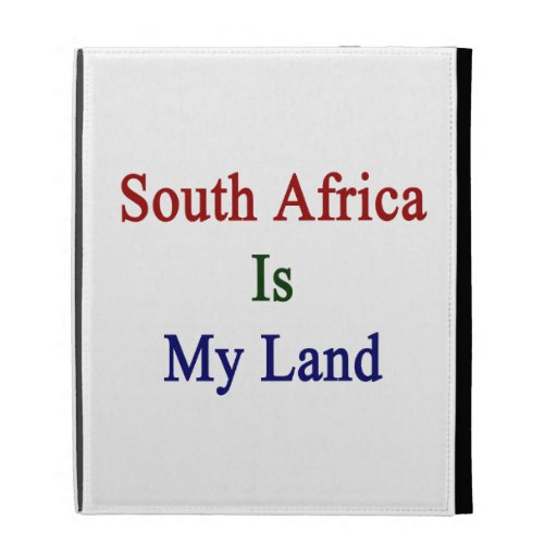 South Africa Is My Land iPad Folio Case