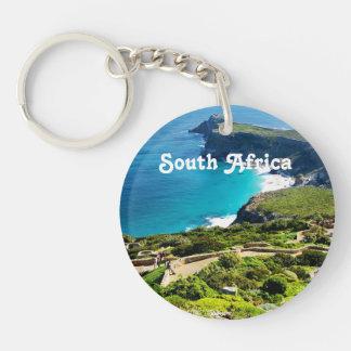 South Africa Single-Sided Round Acrylic Keychain