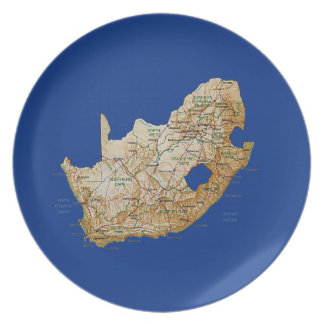 South Africa Map Plate