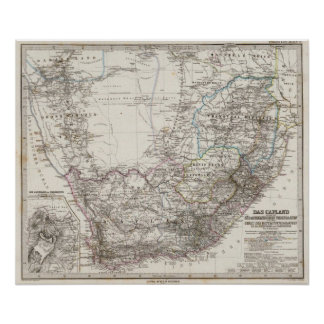 Africa Map Posters Prints Zazzlecouk