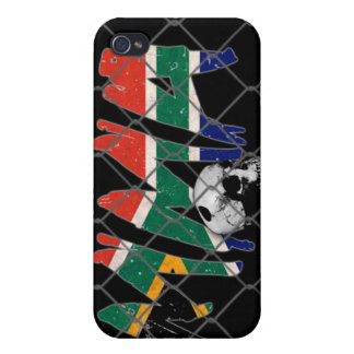 South Africa MMA Skull Black iPhone 4 Case