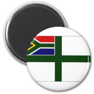 South Africa Naval Ensign 6 Cm Round Magnet
