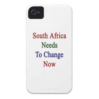 South Africa Needs To Change Now iPhone 4 Case-Mate Cases