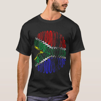 South Africa on Black Tee Shirt