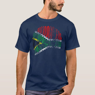 South Africa on Blue Tee Shirt