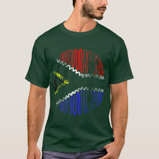 South Africa on Green Tee Shirt
