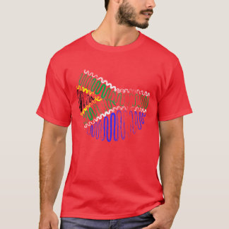 South Africa on Red Tee Shirt