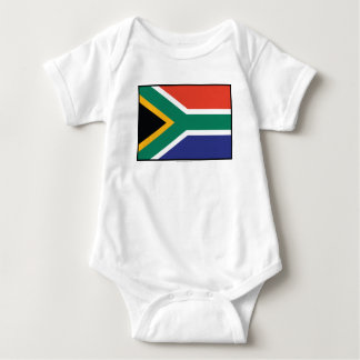 South Africa Plain Flag Baby Bodysuit