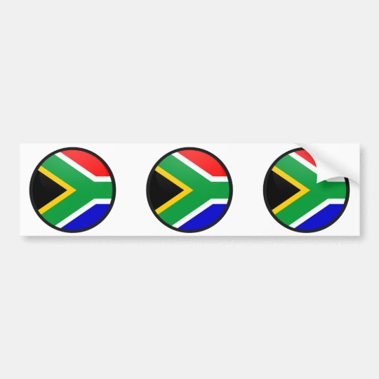 South Africa quality Flag Circle Bumper Sticker
