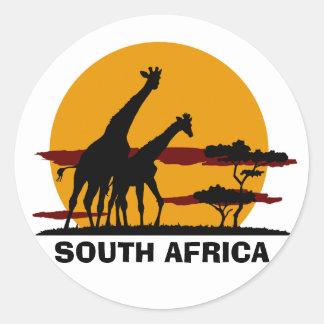 South Africa Round Sticker