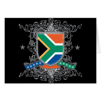 South Africa Shield Greeting Card