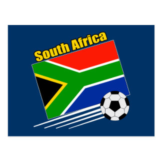 South Africa Soccer Team Postcard