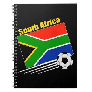 South Africa Soccer Team Spiral Note Books
