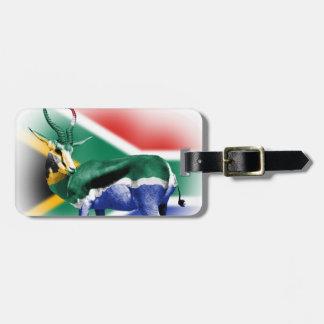 South Africa Springbuck Flag Luggage Tag