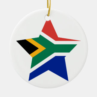 South+Africa Star Christmas Ornament