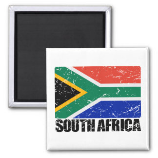 South Africa Vintage Flag Magnet
