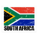 South Africa Vintage Flag Post Card