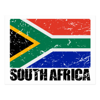South Africa Vintage Flag Postcard
