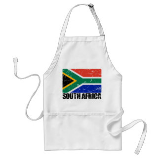 South Africa Vintage Flag Standard Apron