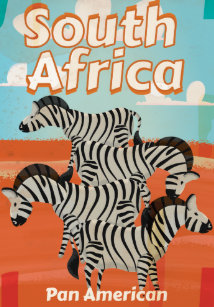 1ea951cad7 South Africa Vintage Travel Poster Canvas Print