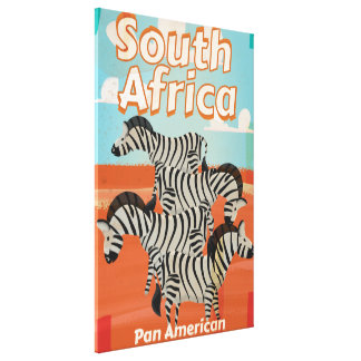 South Africa Vintage Travel Poster Stretched Canvas Print