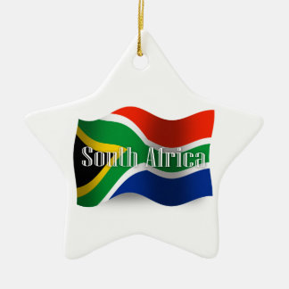 South Africa Waving Flag Christmas Ornament