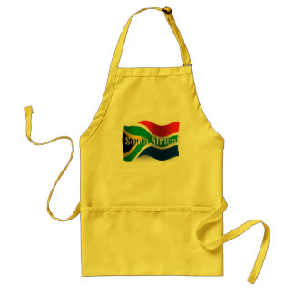 South Africa Waving Flag Standard Apron