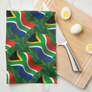 South Africa Waving Flag Tea Towel