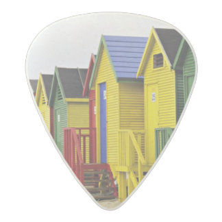 South Africa, Western Cape, St James. Colorful Acetal Guitar Pick