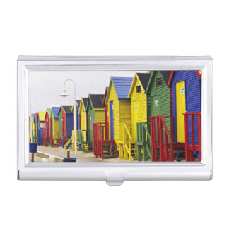 South Africa, Western Cape, St James. Colorful Business Card Holder