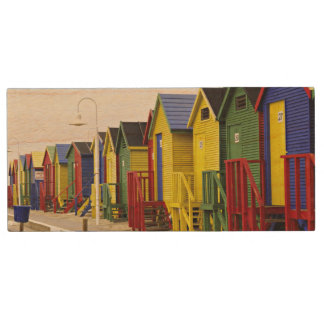South Africa, Western Cape, St James. Colorful Wood USB 2.0 Flash Drive