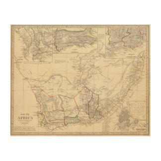South Africa Wood Wall Art
