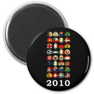 South Africa World 2010 6 Cm Round Magnet