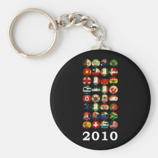South Africa World 2010 Basic Round Button Key Ring