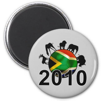 South Africa World 2010 6 Cm Round Magnet