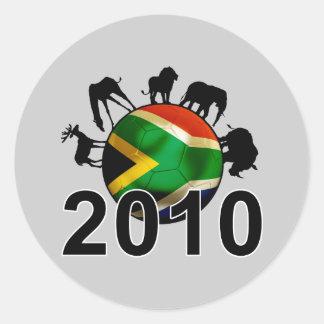 South Africa World 2010 Round Sticker