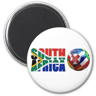 South africa world cup 2010 6 cm round magnet
