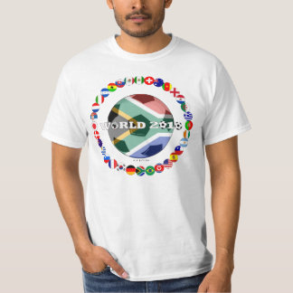 South Africa World Cup 2010 T-Shirt All Flag