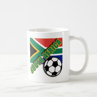 SOUTH AFRICA World Soccer Fan Tshirts Basic White Mug