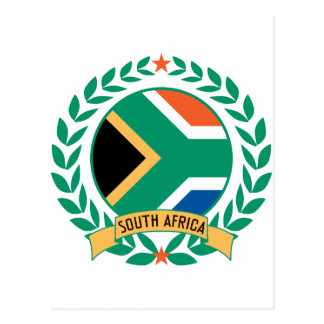 South Africa Wreath Postcard
