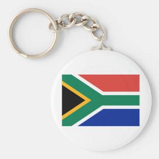 South Africa ZA Basic Round Button Key Ring