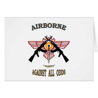 SOUTH AFRICAN AIRBORNE GREETING CARD