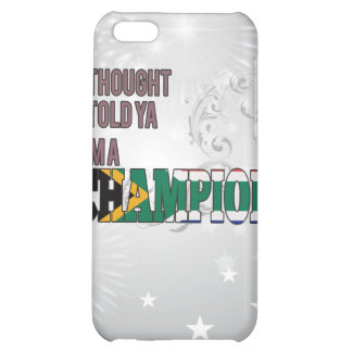 South African and a Champion Case For iPhone 5C