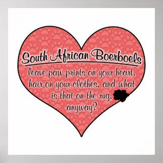 South African Boerboel Paw Prints Dog Humor Poster