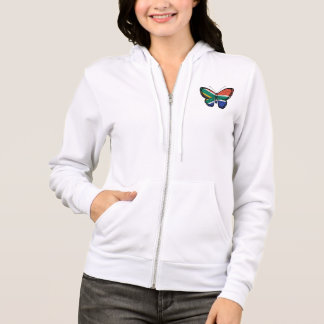 South African Butterfly Flag Hoodie