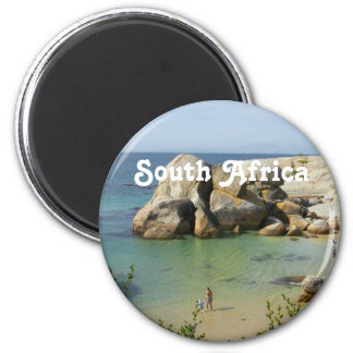 South African Coast 6 Cm Round Magnet