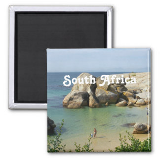 South African Coast Square Magnet